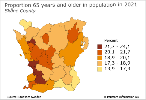 Diagrams bild Proportion 65 years and older in population